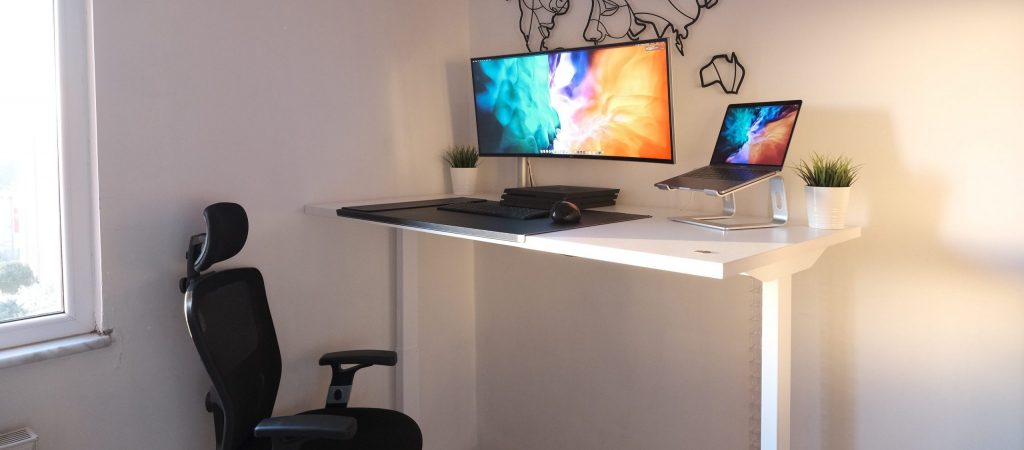 escritorio ajustable blanco