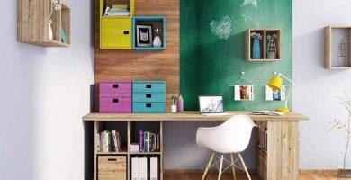 mesa de estudio juvenil casera