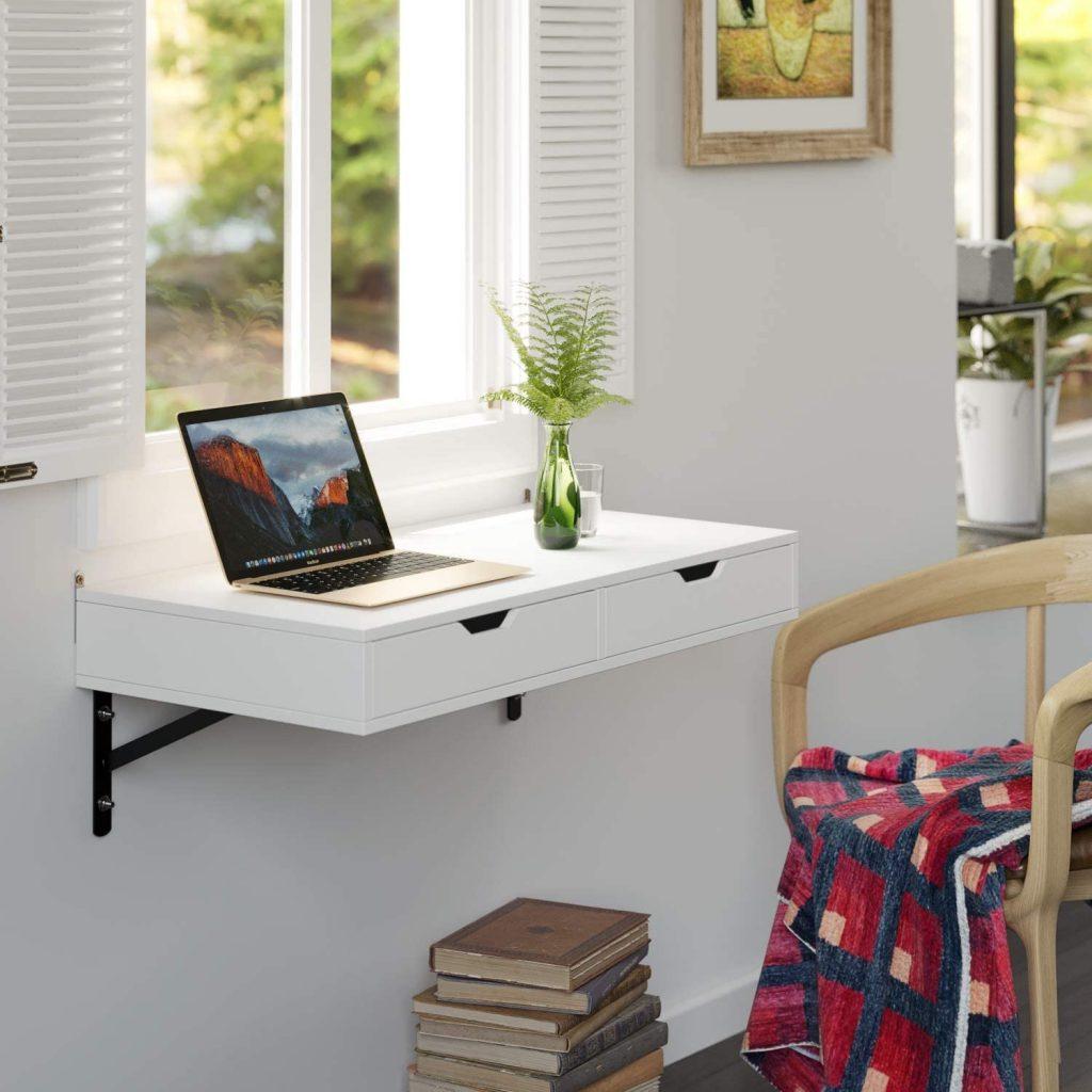 mesa escritorio pared