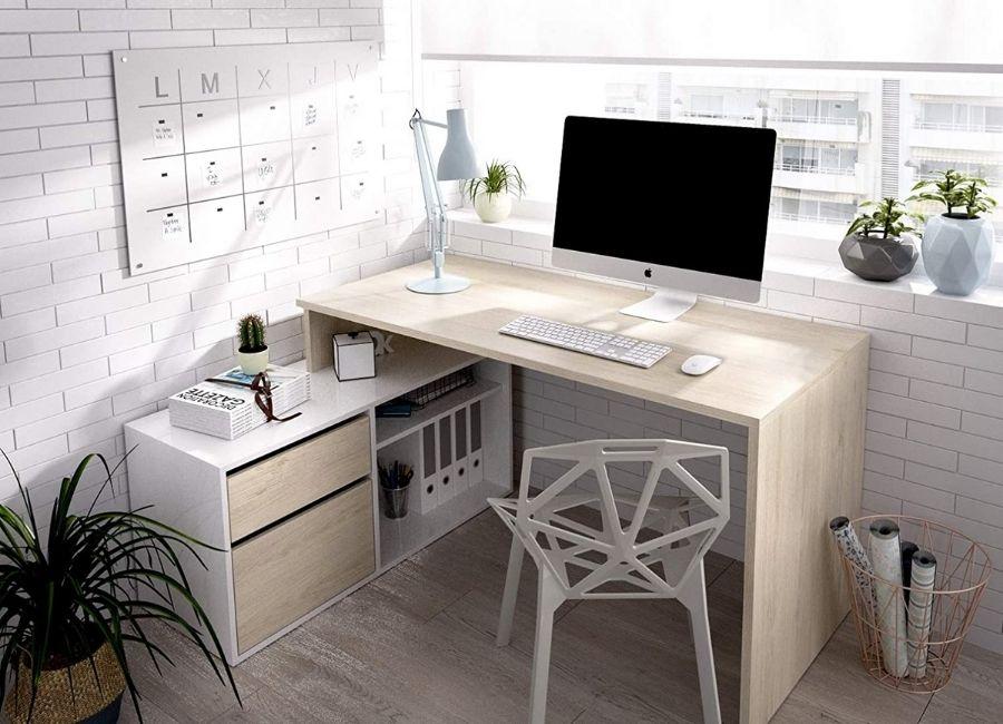 comprar escritorio en forma de l moderno