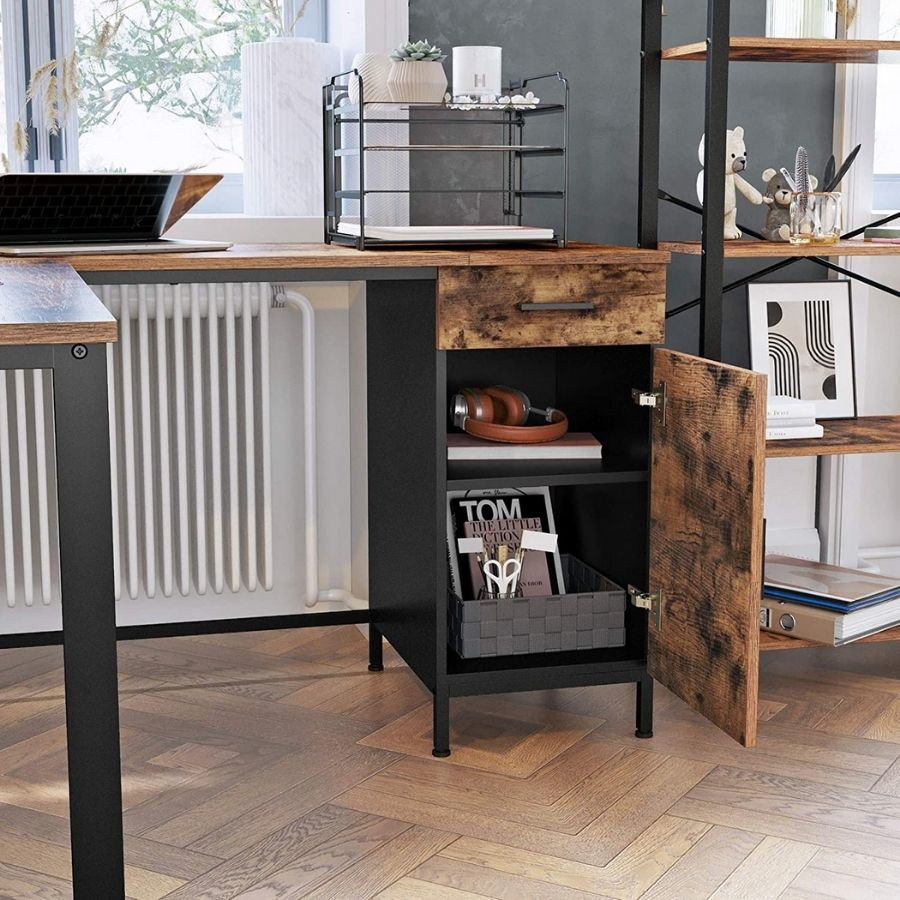comprar escritorio esquinero rustico de madera
