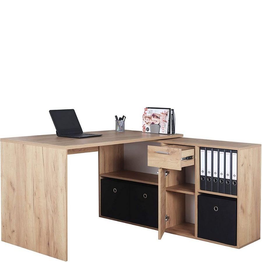 comprar mesa estudio esquinera madera natural