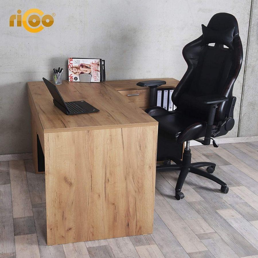 comprar mesa oficina rinconera madera roble