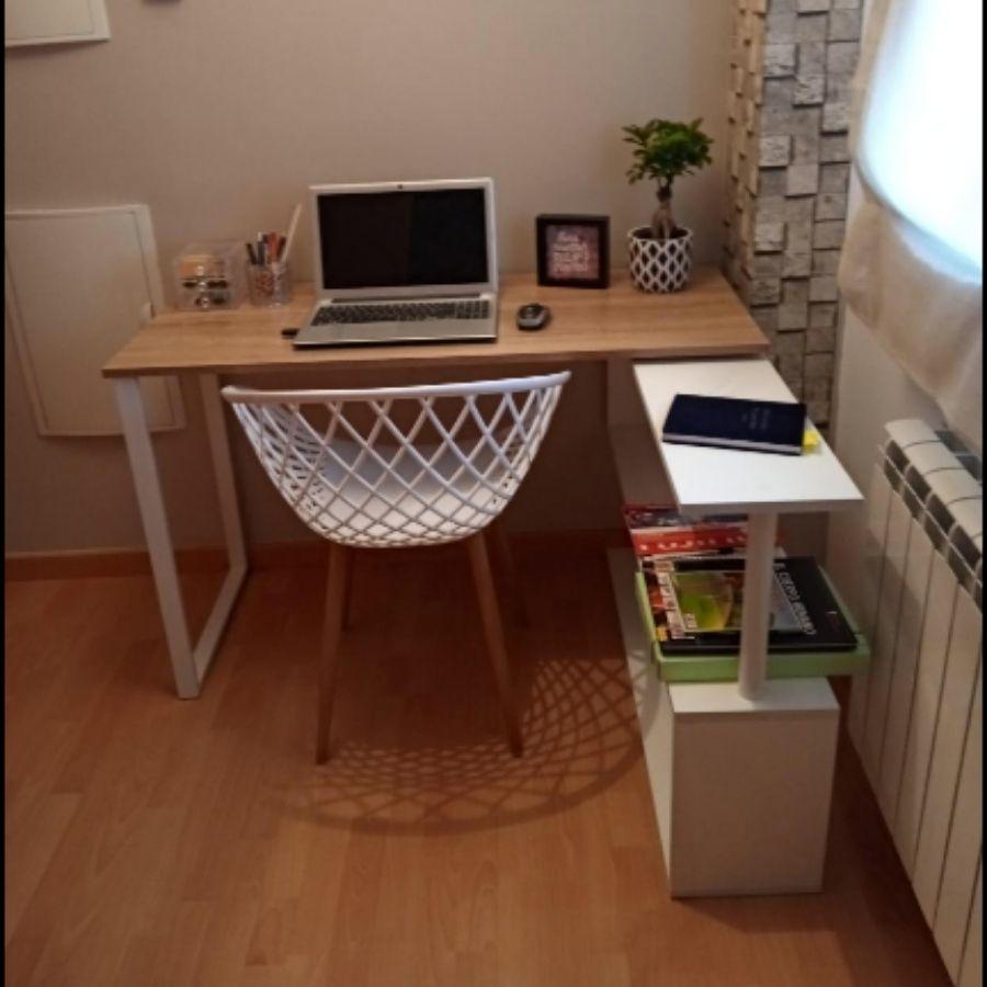 escritorio en l pequeño