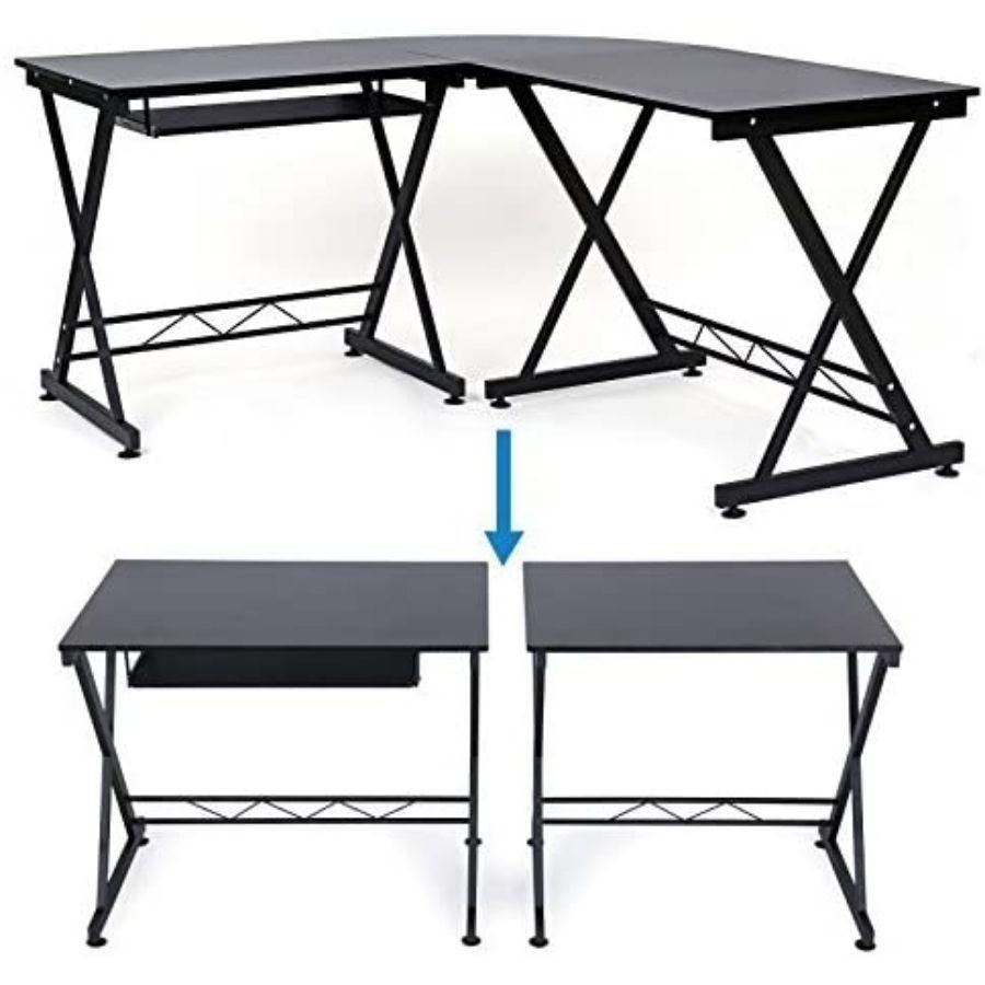 escritorio esquinero con cajones