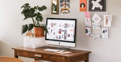 escritorio en cuarto pequeño