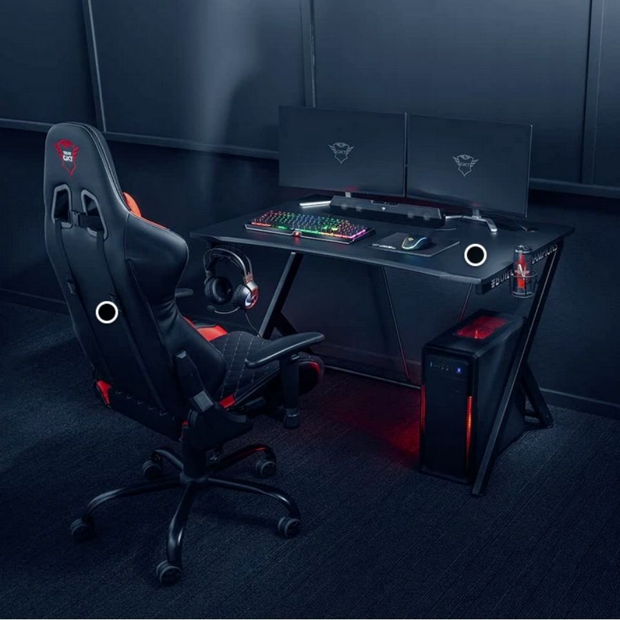 escritorios gaming negros