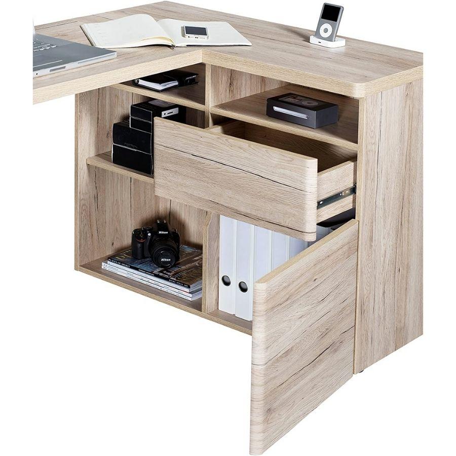 oferta escritorio esquinero madera maciza