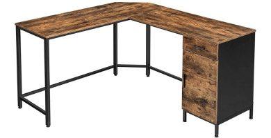 ofertas escritorios en forma de L madera