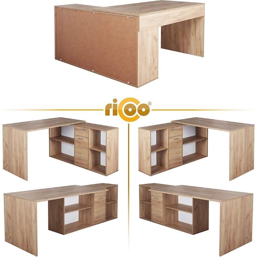 ofertas escritorios madera esquineros
