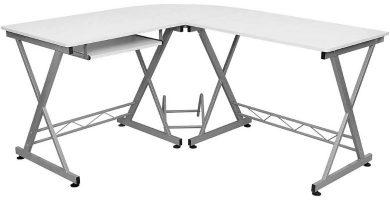 ofertas mesas en forma de L blancas