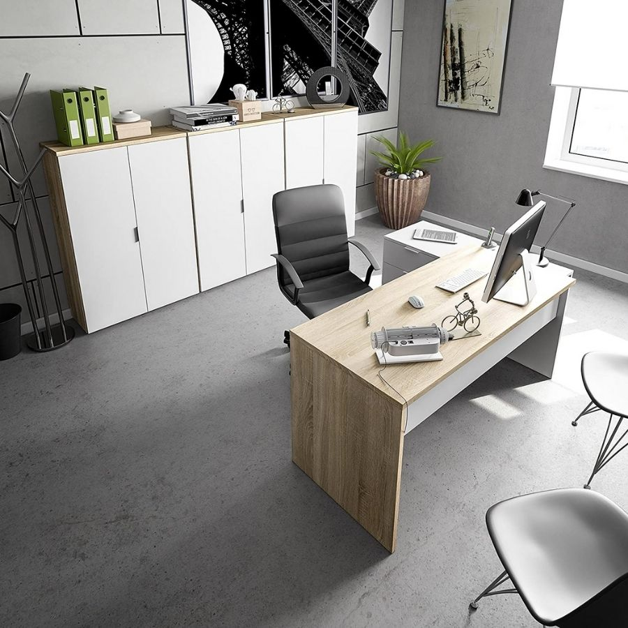 escritorio con cajones a los lados