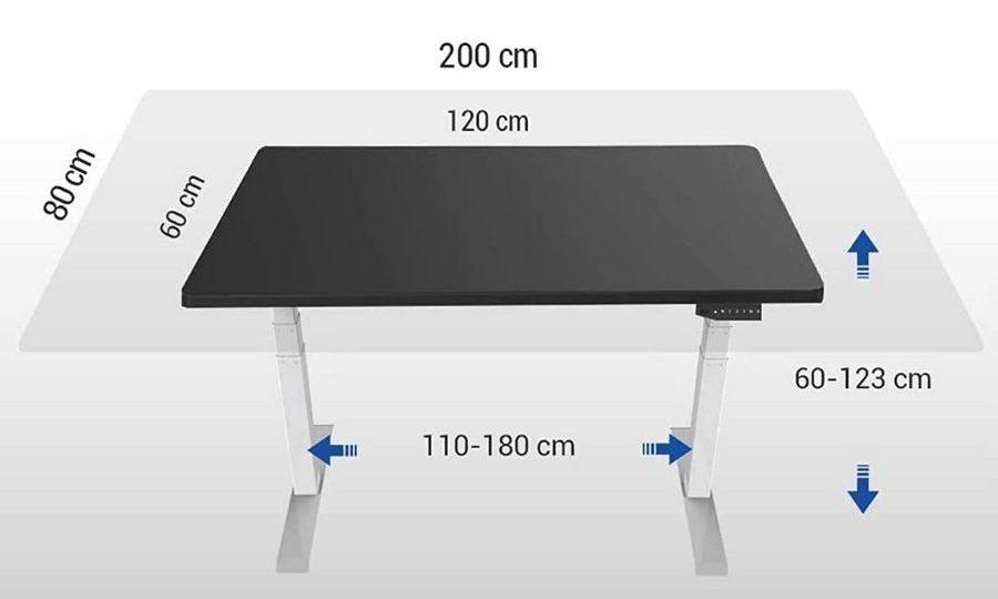 escritorio flexispot e6 medidas