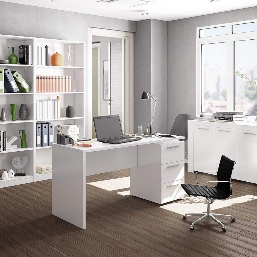 escritorio madera con cajones