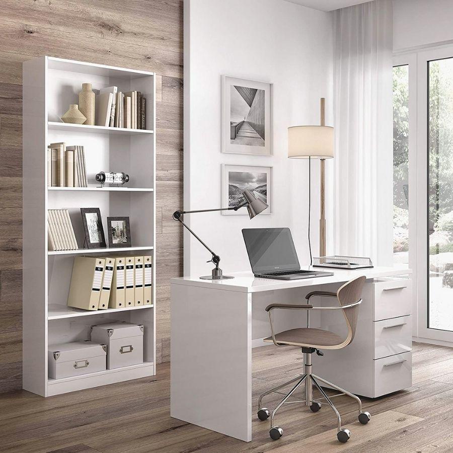 escritorios blancos con cajones