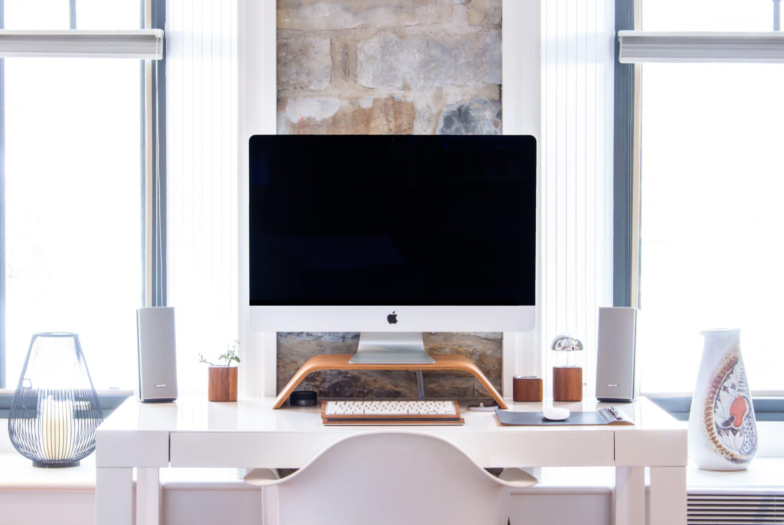 escritorio pequeño blanco