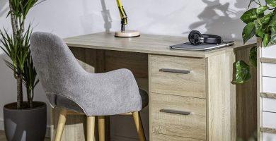 amazon mesa estudio color madera amazon movian