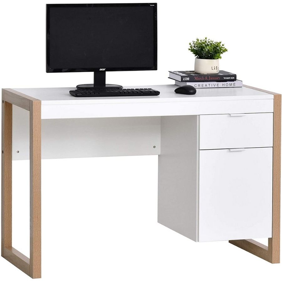 escritorio blanco minimalista