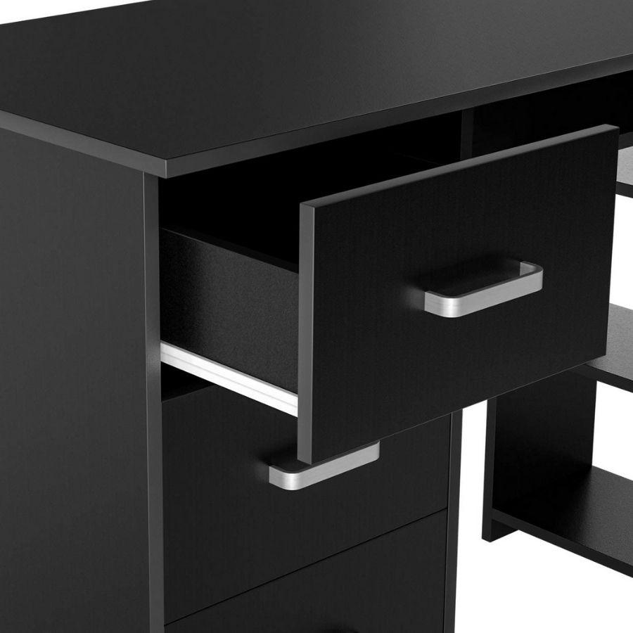 escritorio cajones negro