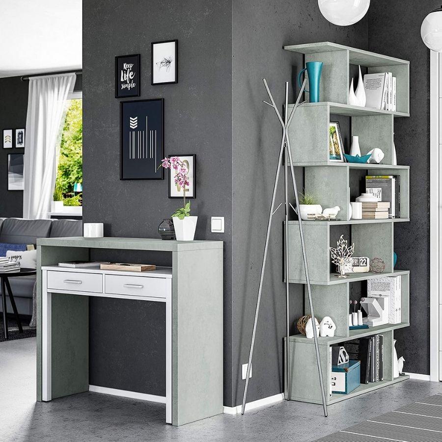 comprar escritorio gris y blanco moderno