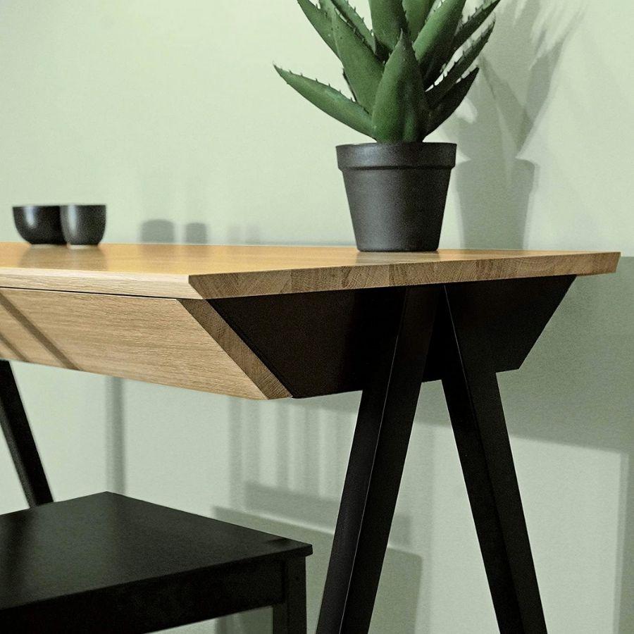 escritorio minimalista madera moderno