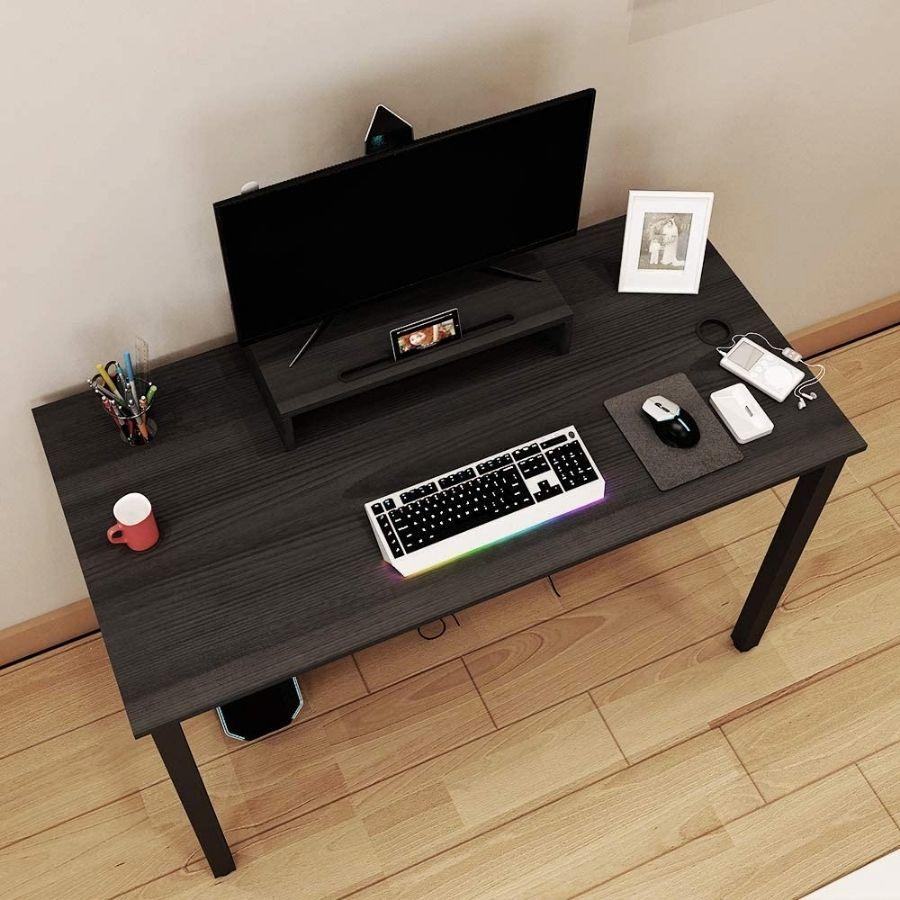 escritorio negro sencillo