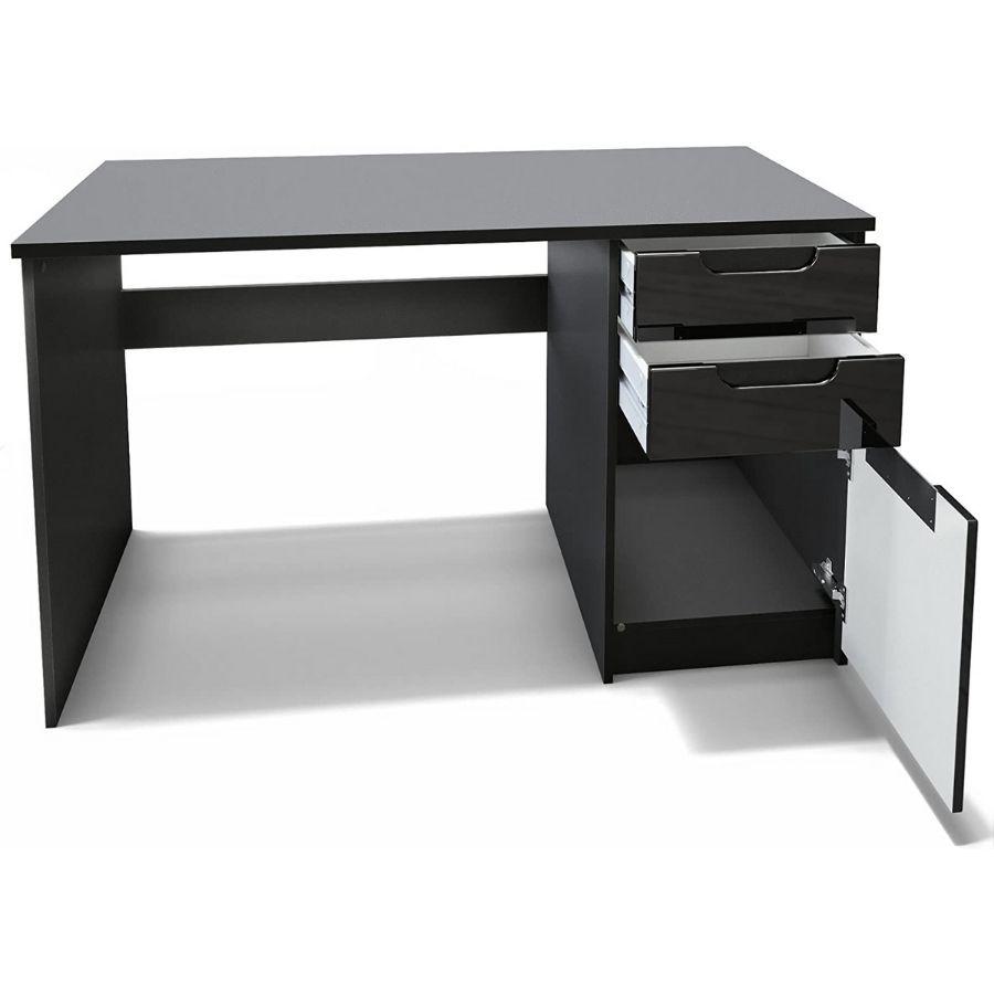 escritorio oficina negro cajones