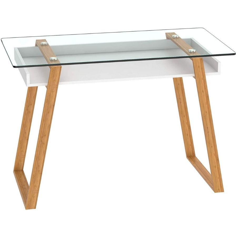 escritorios minimalistas modernos cristal