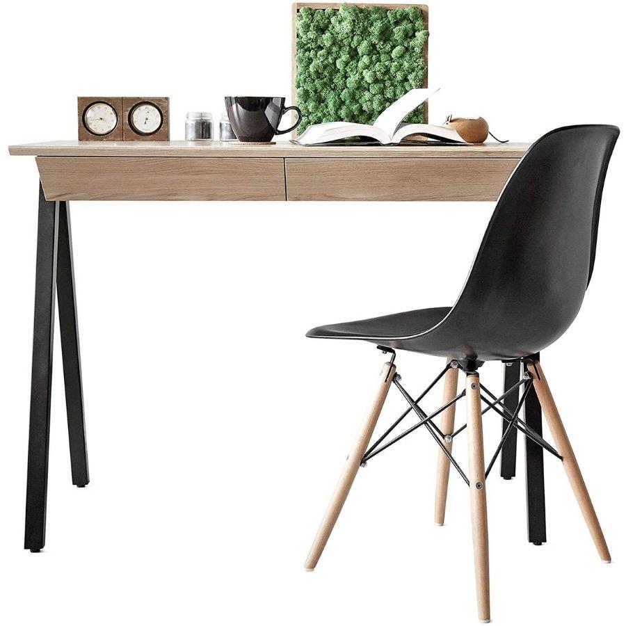 escritorios minimalistas madera modernos