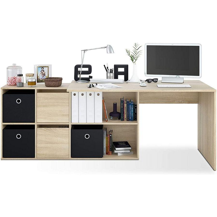 comprar mesa despacho color roble