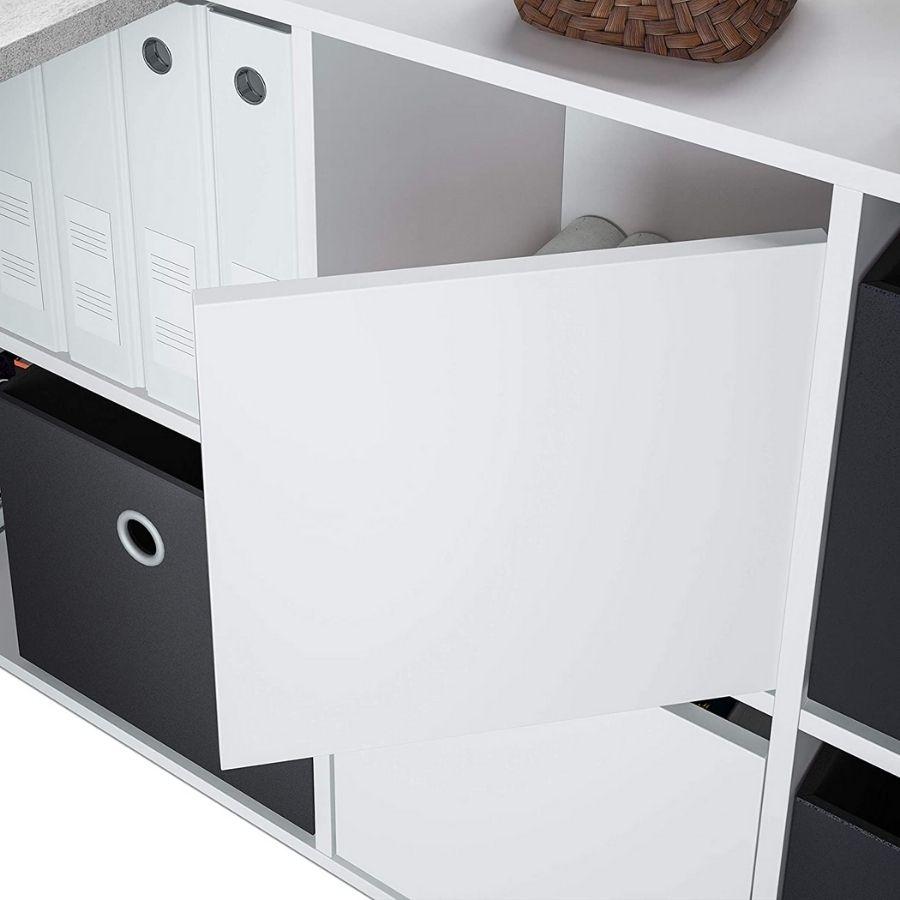 comprar mesa despacho gris cemento estanterias