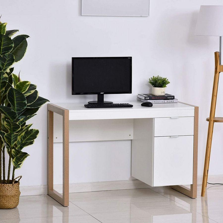 mesa escritorio blanca minimnalista