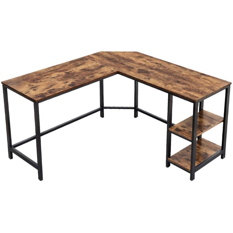 comprar mesa escritorio color cedro