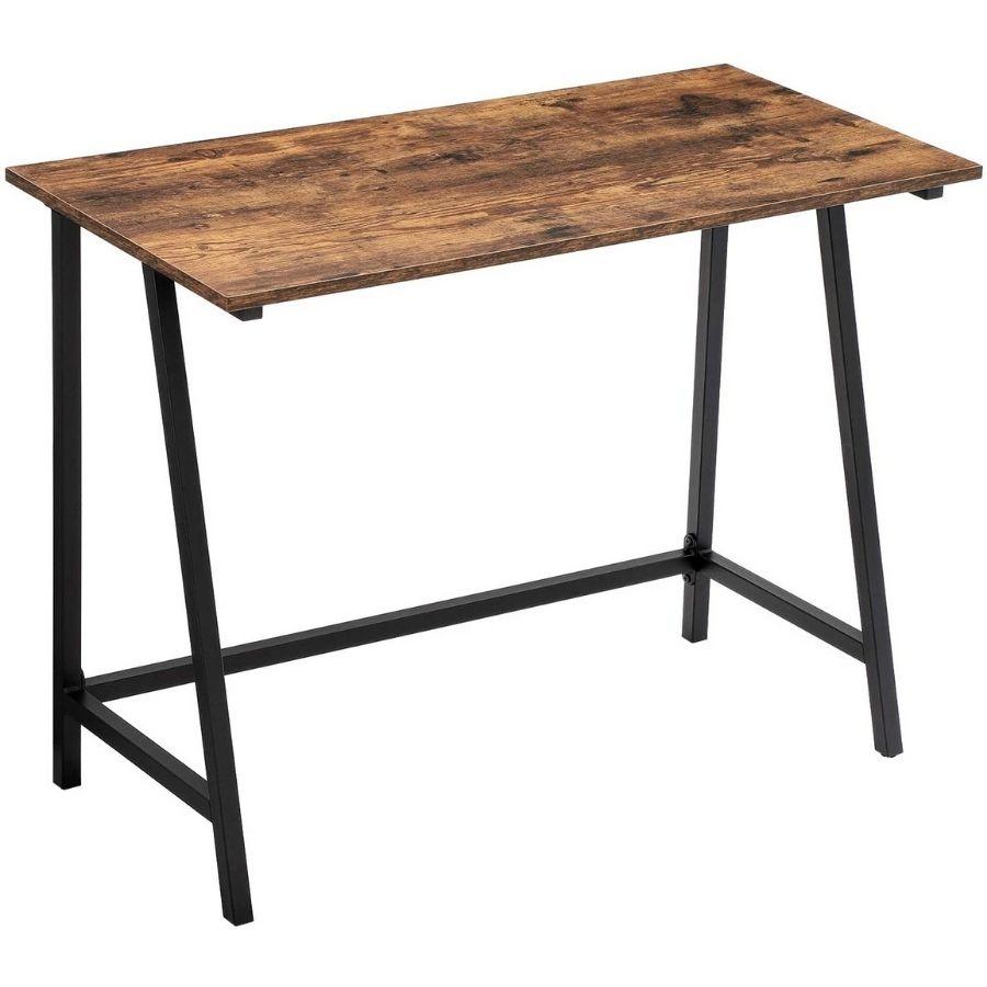 comprar mesa escritorio color madera nogal amazon