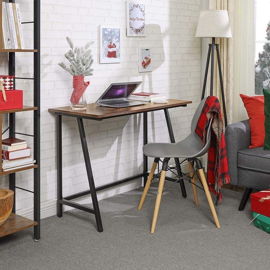 comprar mesa escritorio color nogal amazon