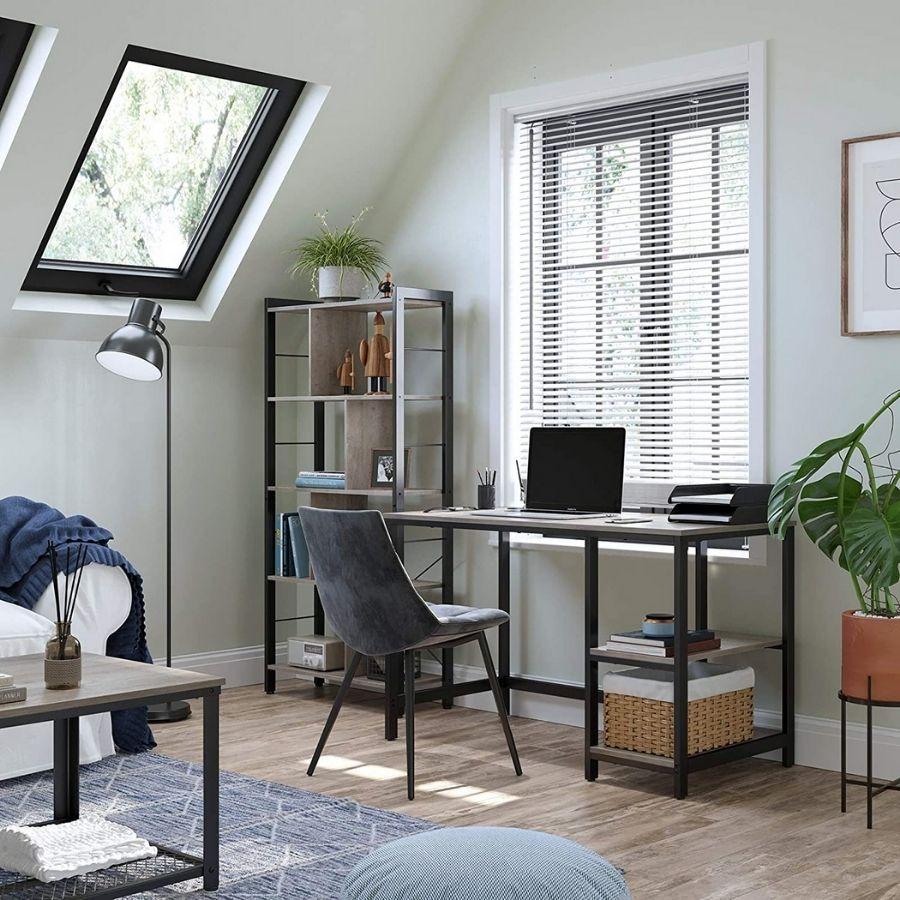 comprar mesa escritorio gris madera
