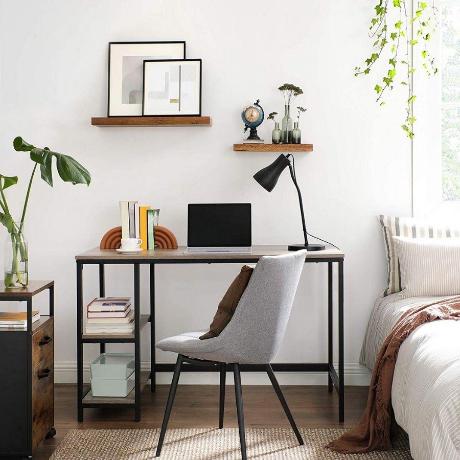 comprar mesa escritorio gris y negro