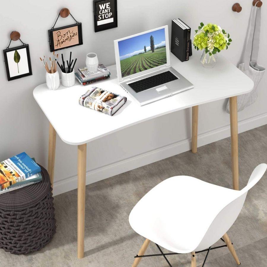 mesa escritorio minimalista blanca