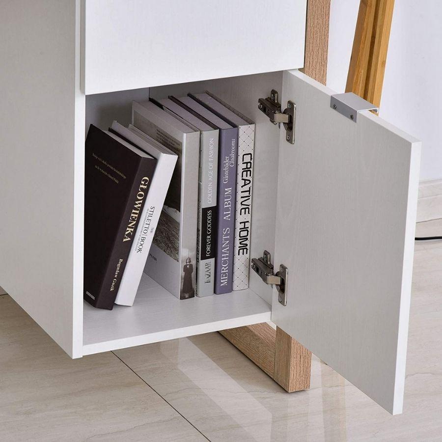 mesa estudio blanca minimalista
