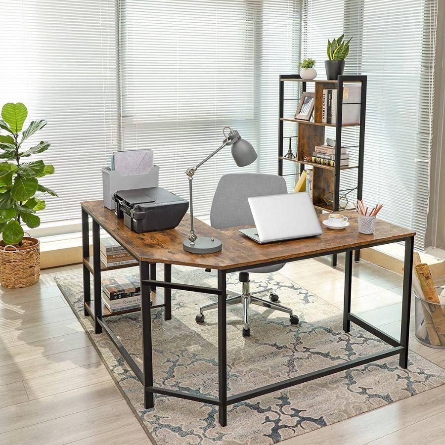 comprar online mesa estudio color cedro