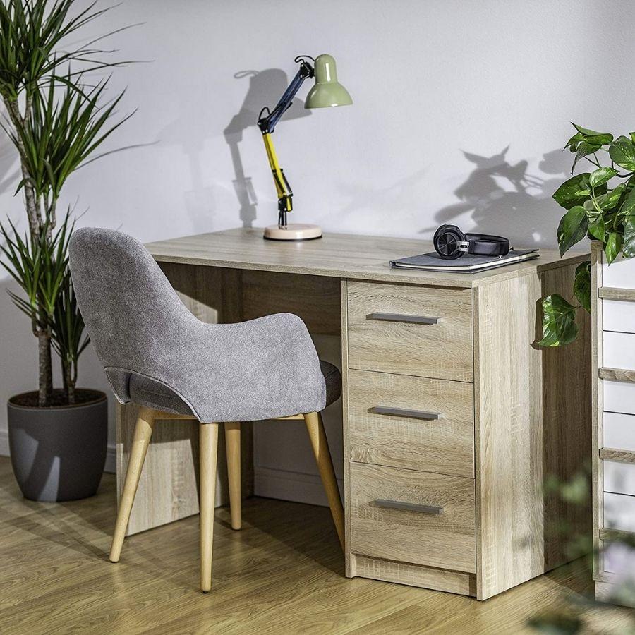 comprar mesa estudio color madera amazon movian
