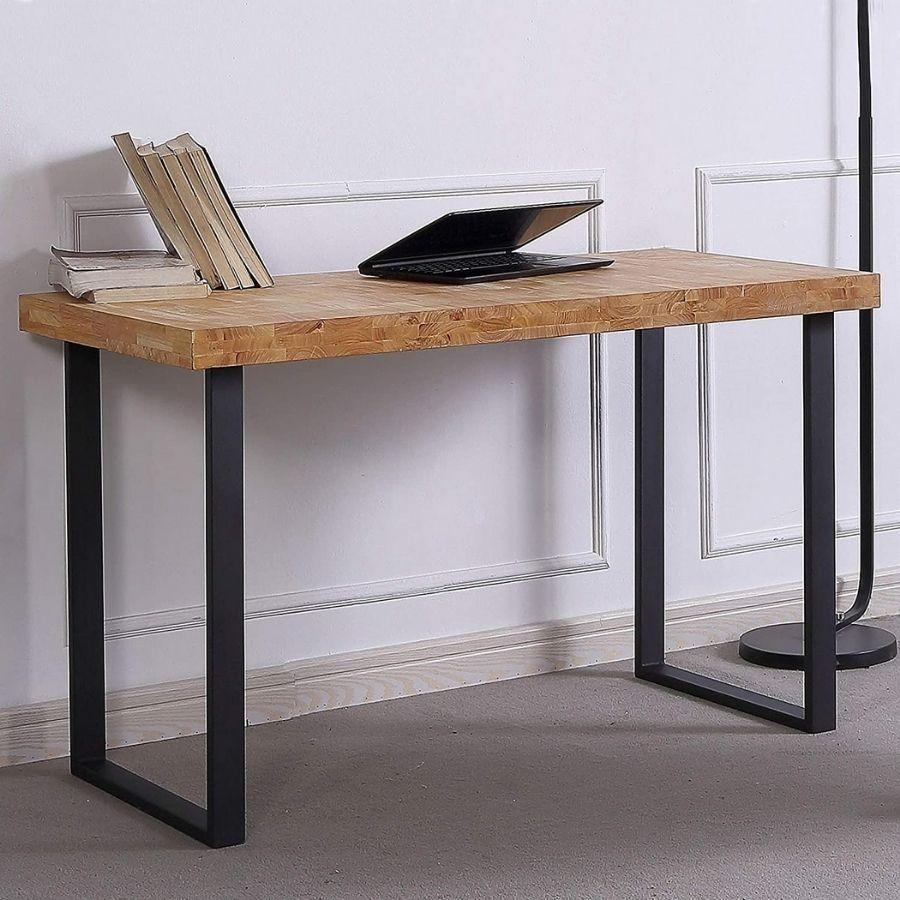 comprar mesa estudio color madera claro amazon