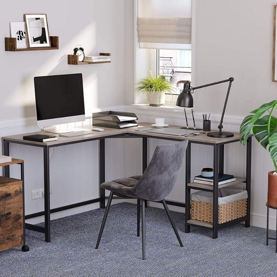 comprar mesa estudio gris en L