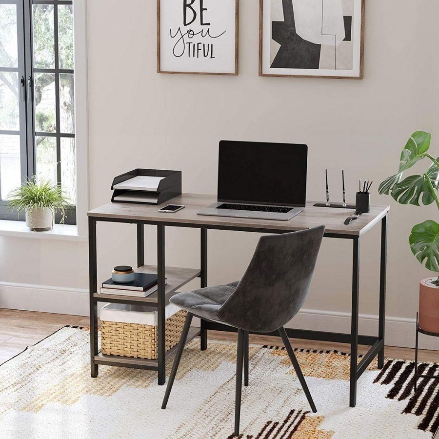 comprar online mesa estudio gris madera
