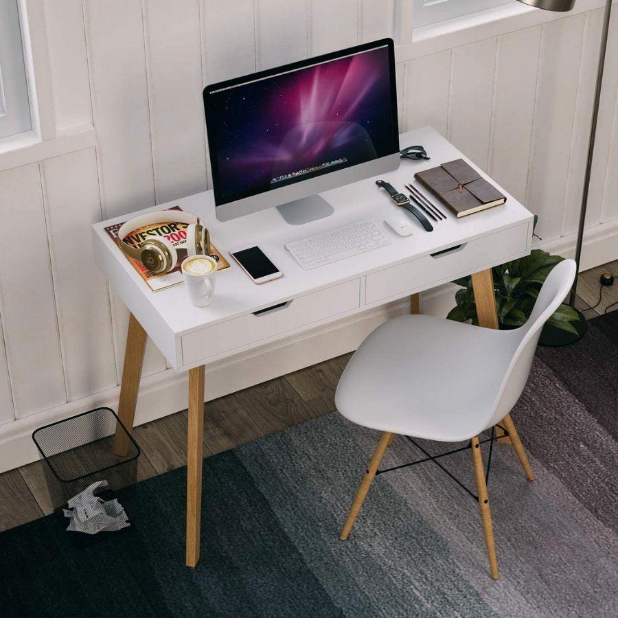 mesa estudio minimalista dormitorio