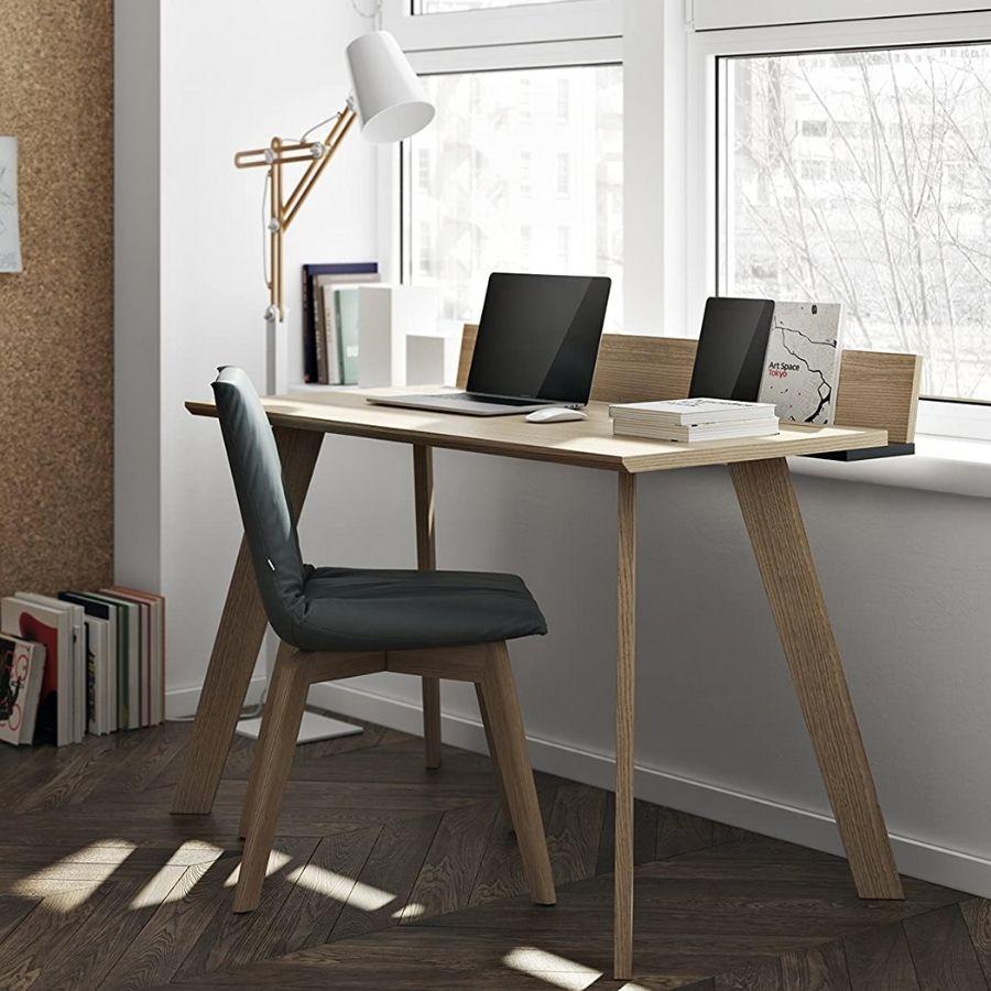 mesa estudio minimalista moderna madera