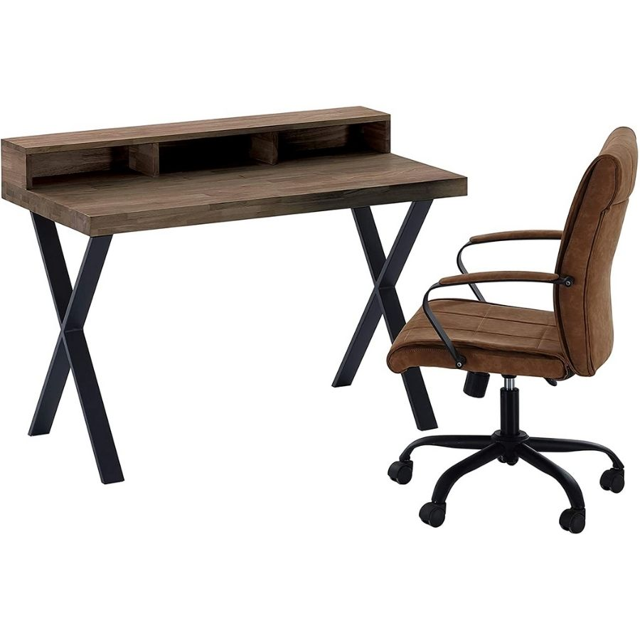 mesa estudio minimalista madera
