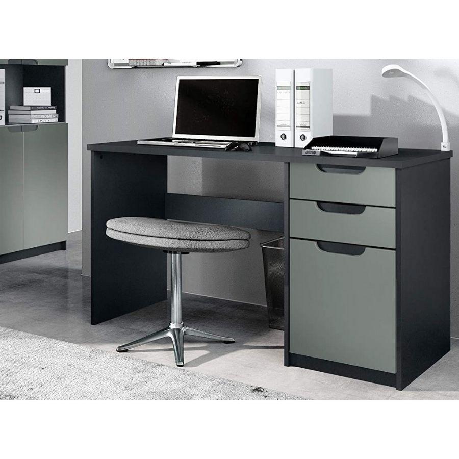mesa oficina negra cajones