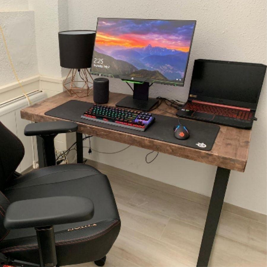 comprar online mesa ordenador color madera claro