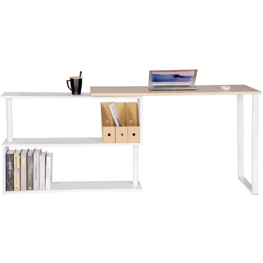 comprar mesa ordenador color madera y blanco amazon